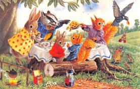 dan002354 - Dressed Animals Post Card