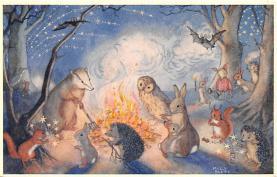dan002390 - Dressed Animals Post Card