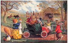 dan002409 - Dressed Animals Post Card