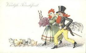 dan004022 - Dressed Animals, Chickens, Postcard Post Card