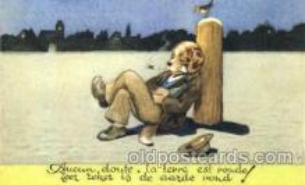 dan004036 - Dresses Dog, Dogs, Postcard Post Card