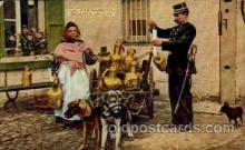 dct001004 - Milk Inspector, Brussels, Belgium Dog Pulling Cart Postcard Post Card