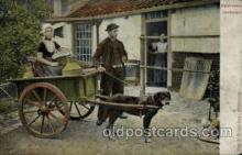 dct001005 - Walchersche Honderkar Dog Pulling Cart Postcard Post Card