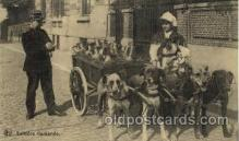 dct001007 - Laitiere Flamande Dog Pulling Cart Postcard Post Card