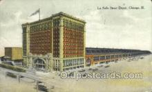 dep001043 - La Salle Street Depot, Chicago, IL USA Train Railroad Station Depot Post Card Post Card