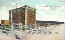 dep001044 - La Salle Street Depot, Chicago, IL USA Train Railroad Station Depot Post Card Post Card