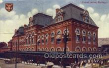 dep001045 - Union Depot, Chicago, IL USA Train Railroad Station Depot Post Card Post Card