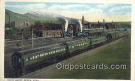 dep001048 - Union Depot, Ogden, UT USA Train Railroad Station Depot Post Card Post Card