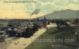 dep001050 - Union Station, Ogden, UT USA Train Railroad Station Depot Post Card Post Card