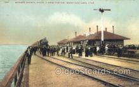 dep001051 - Midlake Station, Ogden, UT USA Train Railroad Station Depot Post Card Post Card