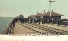 dep001053 - Midlake Station, Ogden, UT USA Train Railroad Station Depot Post Card Post Card