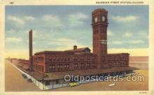 dep001058 - Dearborn Street Depot, Chicago, IL USA Train Railroad Station Depot Post Card Post Card