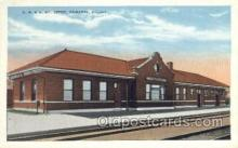 dep001064 - Cb and Q RY Depot, Kewanee, IL USA Train Railroad Station Depot Post Card Post Card
