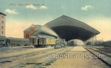 dep001066 - Union Depot, Peoria, IL USA Train Railroad Station Depot Post Card Post Card