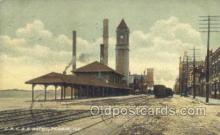 dep001070 - CRI and P Depot, Peoria, IL USA Train Railroad Station Depot Post Card Post Card