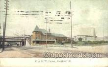 dep001072 - C and NW Depot, Rockford, IL USA Train Railroad Station Depot Post Card Post Card