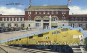 dep001079 - Union Depot, Pocatello, ID USA Train Railroad Station Depot Post Card Post Card