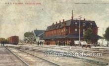 dep001080 - OSLRR Depot, Pocatello, ID USA Train Railroad Station Depot Post Card Post Card