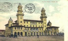 dep001081 - Terminal Station, Atlanta, GA USA Train Railroad Station Depot Post Card Post Card