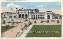 dep001090 - Union Station, Washington DC, USA Train Railroad Station Depot Post Card Post Card
