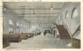 dep001095 - NYNH and H station, Hartford, CT USA Train Railroad Station Depot Post Card Post Card