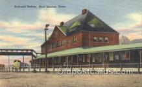 dep001097 - RR Station, New London, CT USA Train Railroad Station Depot Post Card Post Card