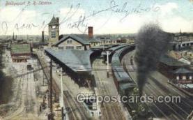 dep001098 - RR station, Bridgeport, CT USA Train Railroad Station Depot Post Card Post Card