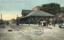 dep001099 - Willimantic Station, Willimantic, CT USA Train Railroad Station Depot Post Card Post Card