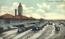 dep001109 - Union Depot, Denver, CO USA Train Railroad Station Depot Post Card Post Card