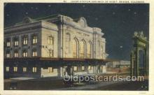 dep001111 - Union Station, Denver, CO USA Train Railroad Station Depot Post Card Post Card