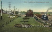 dep001119 - Grand tuck RR Station, Hamilton, Canada Train Railroad Station Depot Post Card Post Card