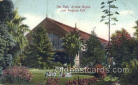 dep001125 - Arcade Depot, Los Angeles, CA USA Train Railroad Station Depot Post Card Post Card