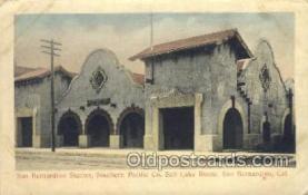 dep001131 - San Bernardino Station, San Bernardino, CA  USA Train Railroad Station Depot Post Card Post Card