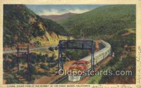 dep001133 - Cajon Pass, Coast Range, CA USA Train Railroad Station Depot Post Card Post Card