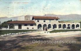 dep001134 - The Depot, Santa Barbara, CA USA Train Railroad Station Depot Post Card Post Card