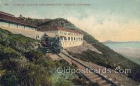 dep001135 - Mt Tamalpais, CA USA Train Railroad Station Depot Post Card Post Card