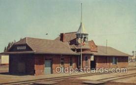 dep001137 - Santa FE RR Station, Perris, CA USA Train Railroad Station Depot Post Card Post Card