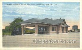 dep001204 - Depot, Wisconsin Rapids, WI , Wisconsin, USA Train Railroad Station Depot Post Card Post Card