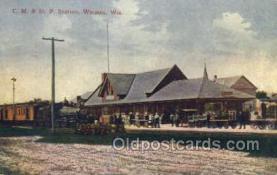 CM & St P Station, WaUSAu, WI, USA