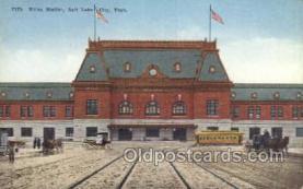 dep001212 - Union station, Salt Lake City, UT, Utah, USA Train Railroad Station Depot Post Card Post Card