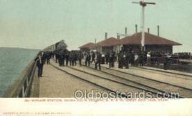 dep001215 - Midlake Station, Salt Lake City, UT, Utah, USA Train Railroad Station Depot Post Card Post Card