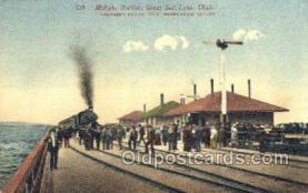 dep001216 - Midlake Station, Salt Lake City, UT, Utah, USA Train Railroad Station Depot Post Card Post Card