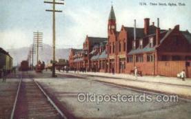 dep001217 - Union Depot, Ogden, UT , Utah, USA Train Railroad Station Depot Post Card Post Card