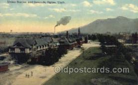dep001218 - Union Station, Ogden, UT, Utah, USA Train Railroad Station Depot Post Card Post Card