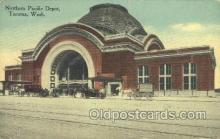 dep001232 - Northern Pacific Depot, Tacoma, WA, Washington, USA Train Railroad Station Depot Post Card Post Card