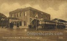 dep001244 - Interurban Depot, Everett, WA, Washington, USA Train Railroad Station Depot Post Card Post Card