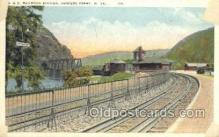 dep001246 - B and O RR Station, Harpers Ferry, WV, West Virginia, USA Train Railroad Station Depot Post Card Post Card