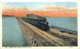 dep001259 - Great Salt Lake Cut Off, Ut, Utah, USA Train Railroad Station Depot Post Card Post Card