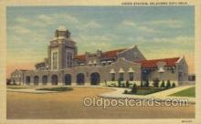 dep001267 - Union Station, Oklahoma City, OK, Oklahoma, USA Train Railroad Station Depot Post Card Post Card