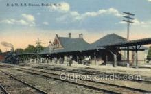 dep001293 - B and MRR Station, Exeter, NH, New Hampshire, USA Train Railroad Station Depot Post Card Post Card